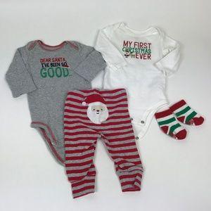 Christmas Bodysuit Pant set w/ interchangeable top